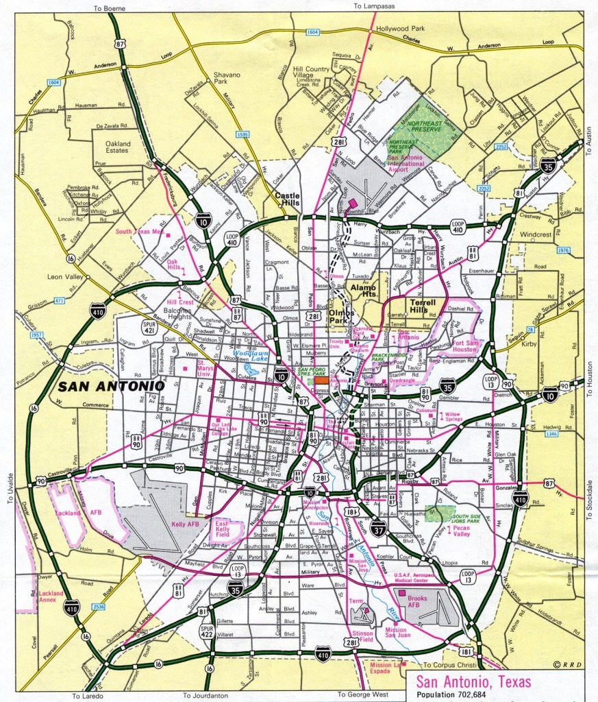 San Antonio Tx Map - Map Of San Antonio Tx (Texas - Usa) - Map Of San Antonio Texas Area