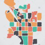 San Bernardino California Map With Neighborhoods And Modern Round   San Bernardino California Map
