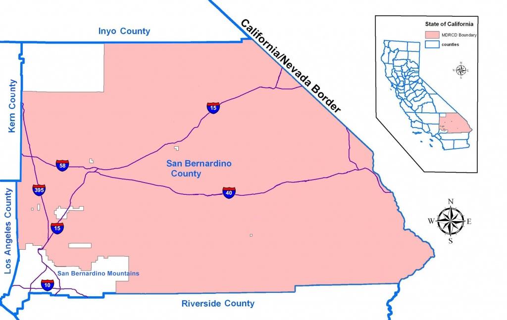 San Bernardino County Map And Travel Information | Download Free San - Map Of San Bernardino County California