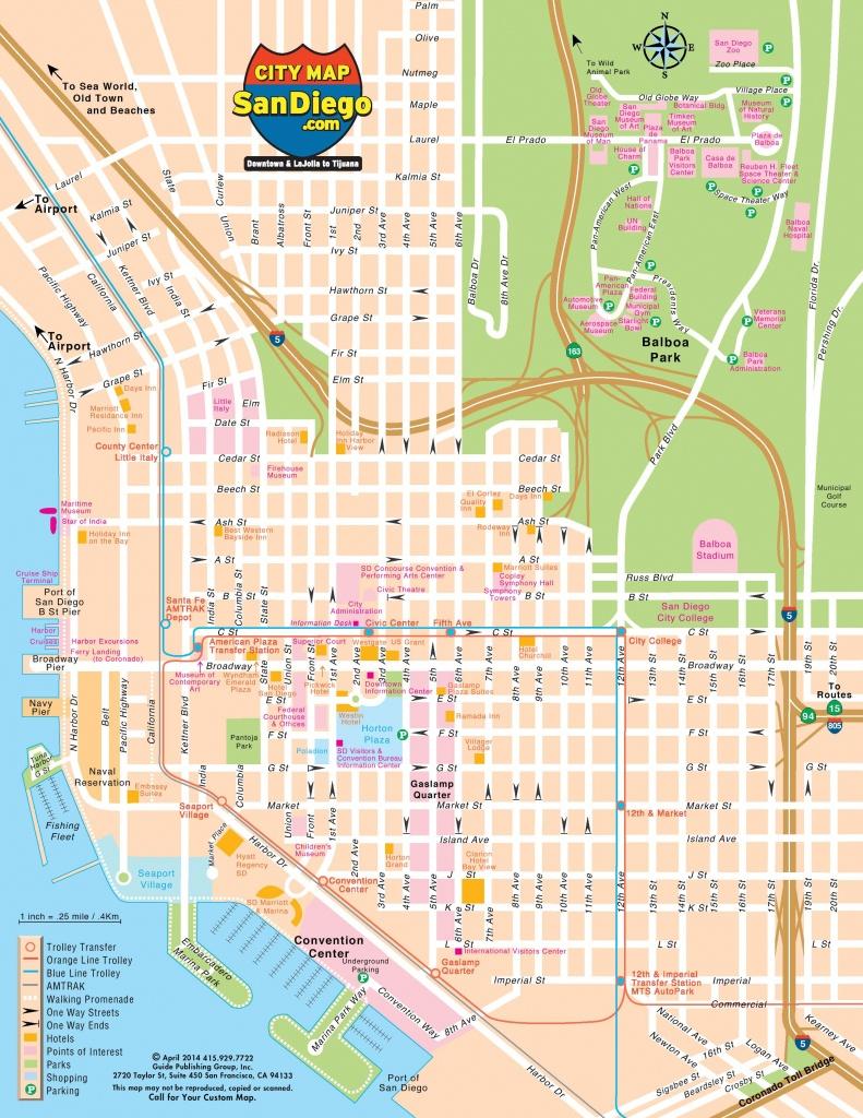 San Diego Street Map - Street Map Of San Diego (California - Usa) - Detailed Map Of San Diego California