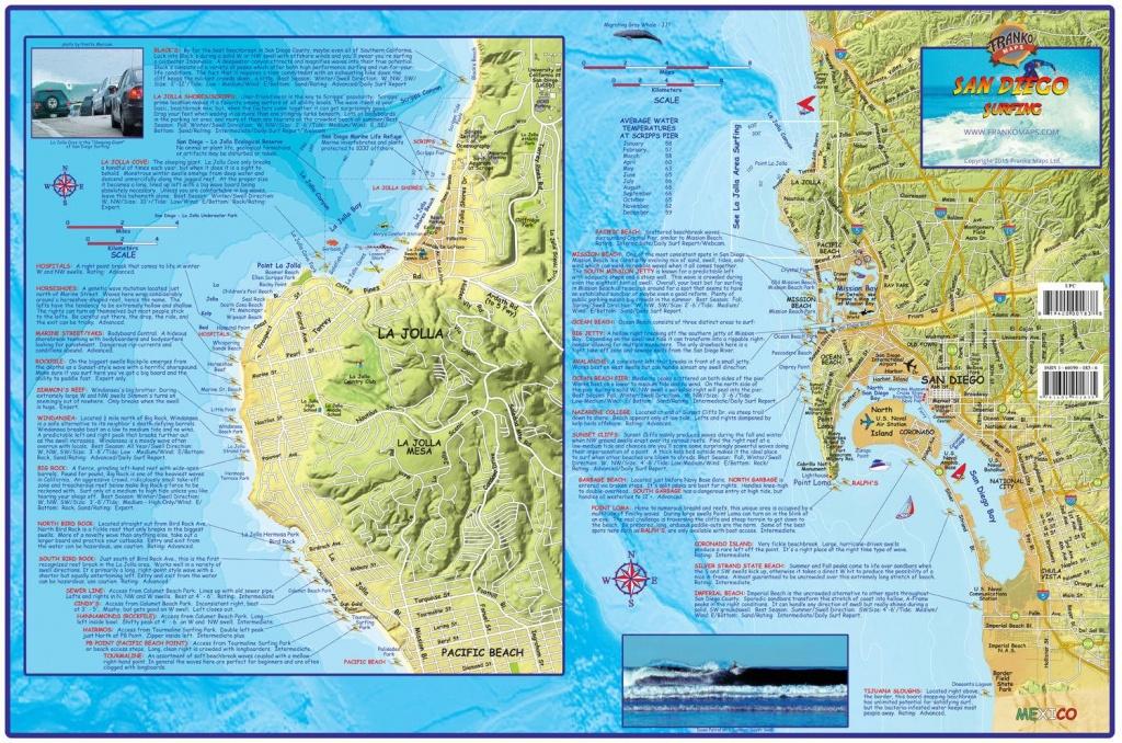 San Diego Surf Map - San Diego Surf Spots Map (California - Usa) - Surf Spots In California Map