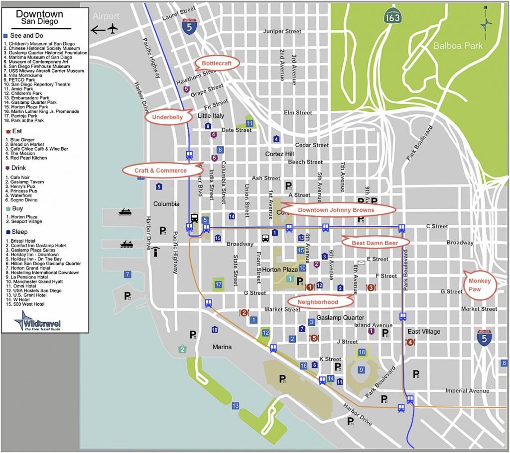 San Diego Trolley Street Map - San Diego Trolley Kaart Met Straten - Detailed Map Of San Diego California