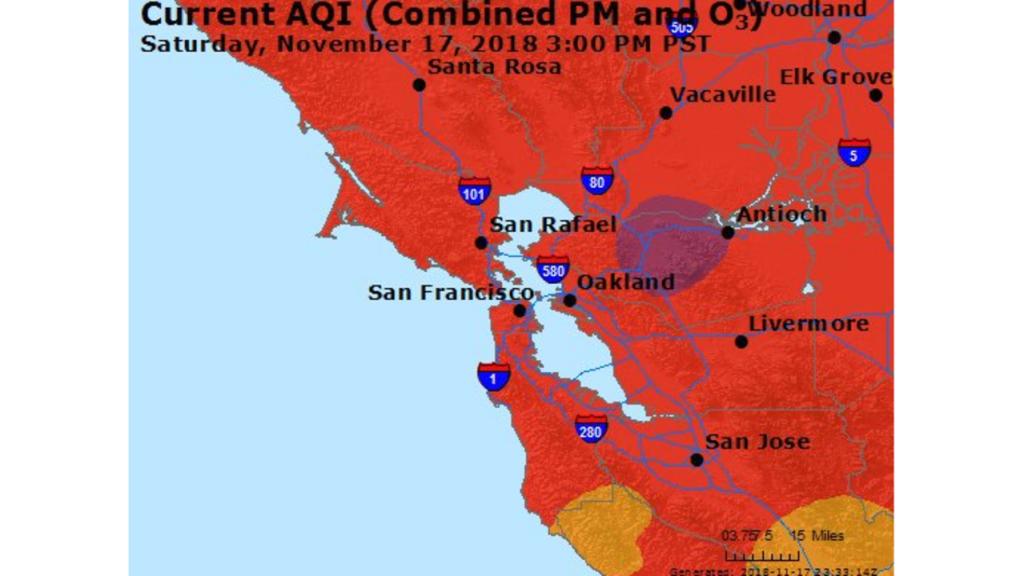 San Francisco Air Still 'unhealthy' After Aqi Dips To 156 - Aqi Map California