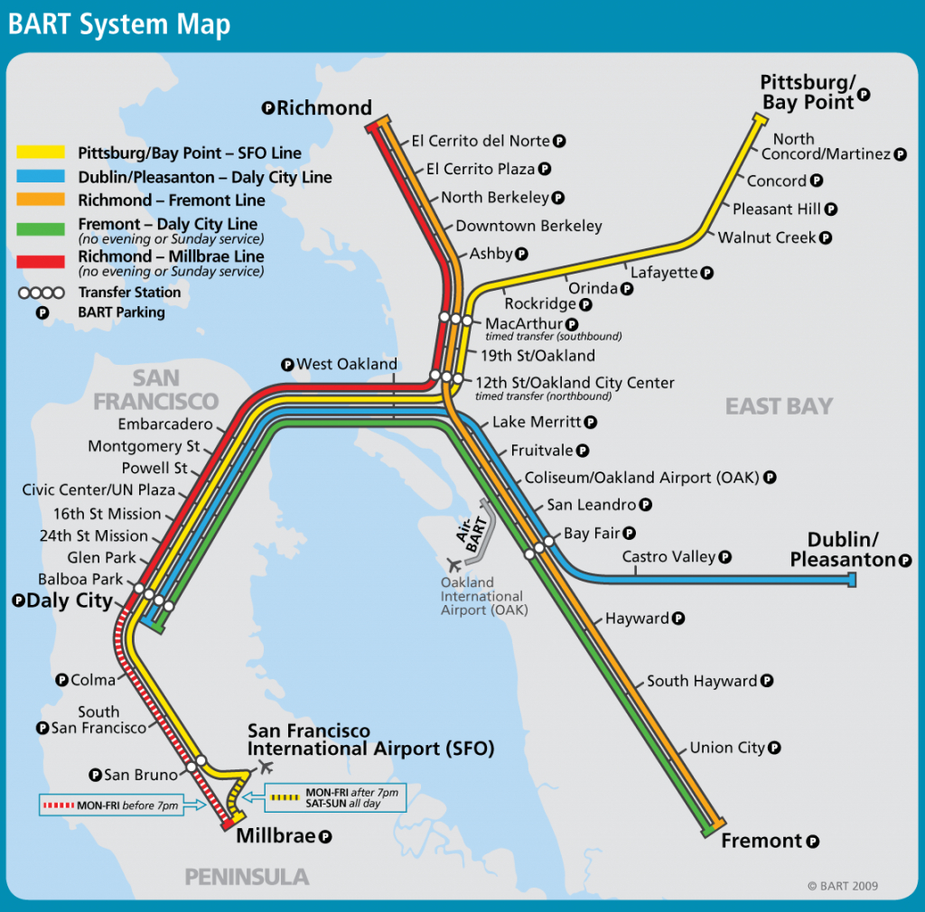 San Francisco Bart Map (83+ Images In Collection) Page 1 - Printable Bart Map