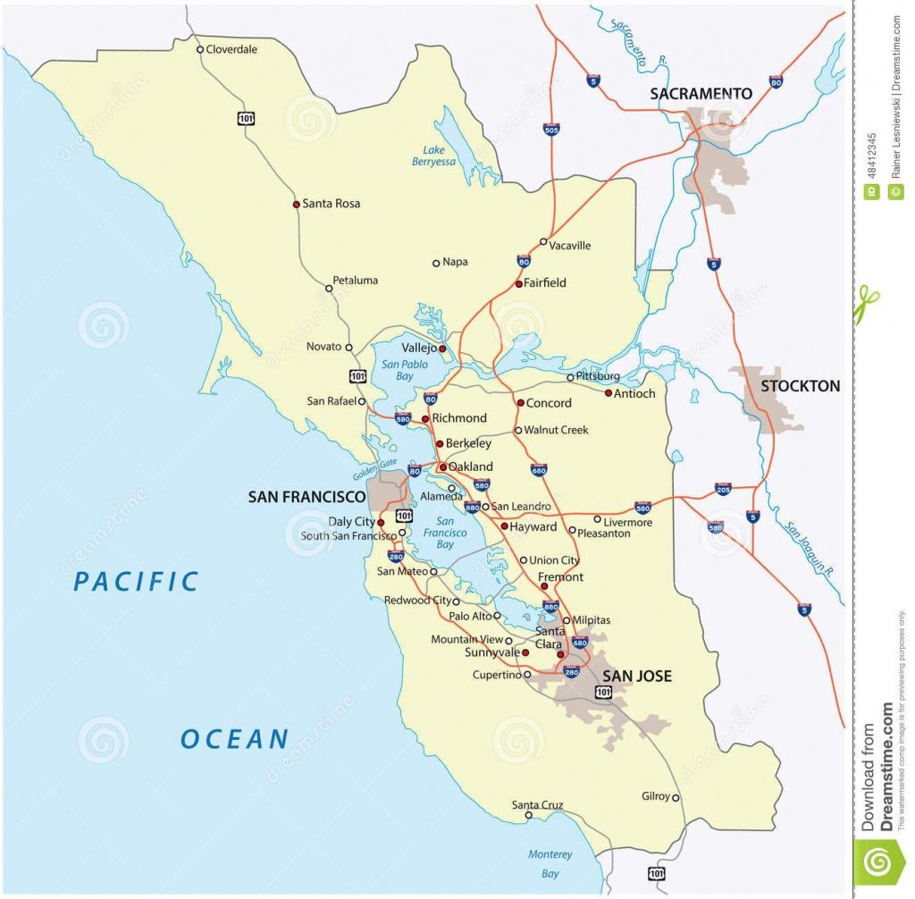 San Francisco Bay Area Stock Vector. Illustration Of Contra - 48412345 - San Francisco Bay Area Map California
