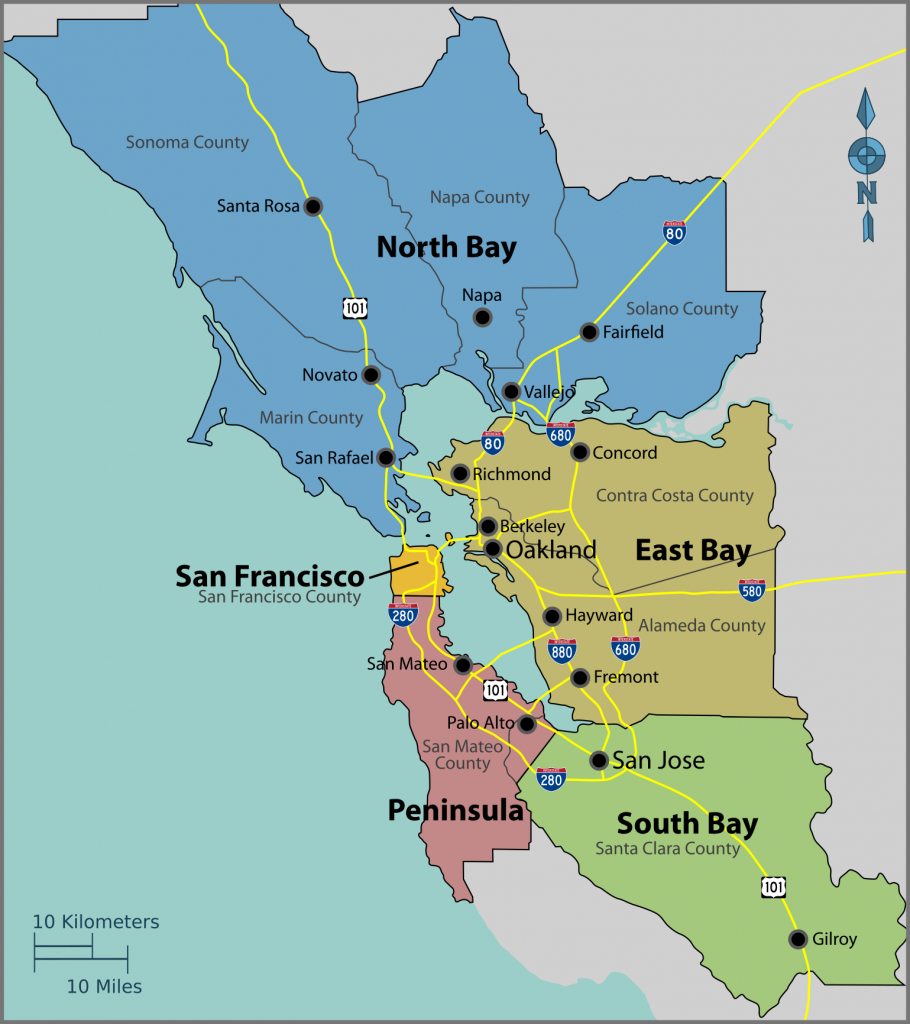 San Francisco Bay Area - Wikipedia - Printable Map Of San Francisco Bay Area