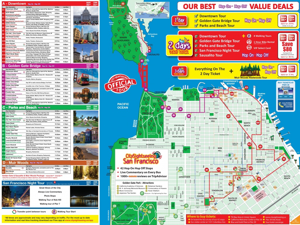 San Francisco Tourist Attractions Map - Map Of San Francisco Attractions Printable