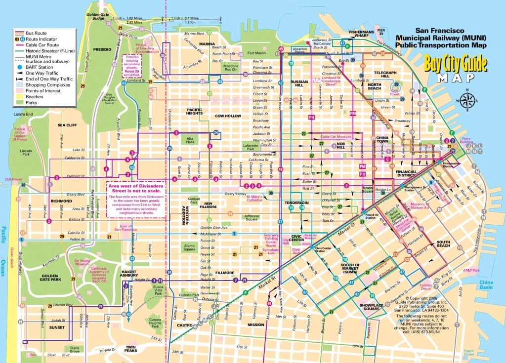 San Francisco Tourist Map - Printable Map San Francisco Cable Car Routes