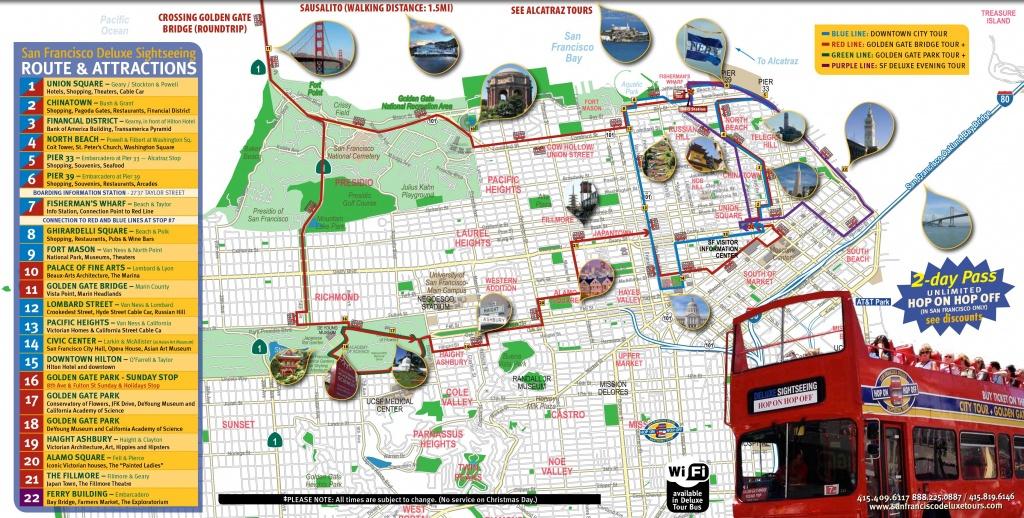 San Francisco Tourist Map Printable   Maps Update #21051488: San - Map Of San Francisco Attractions Printable
