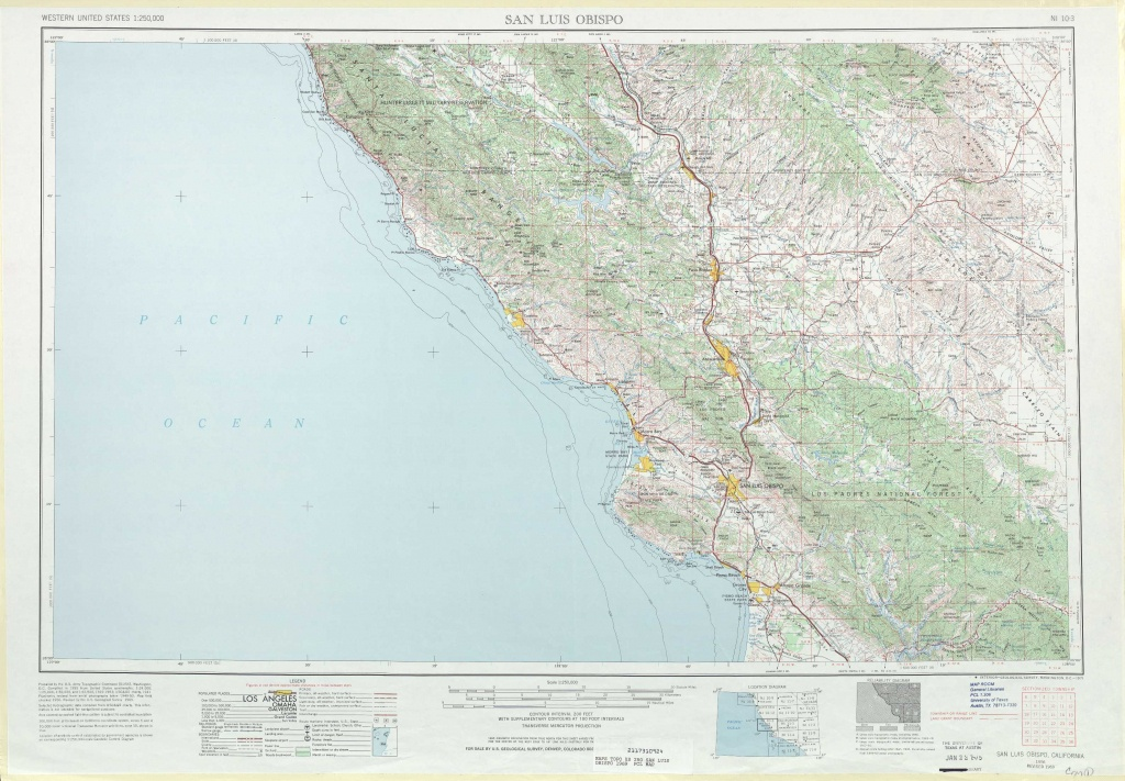 San Luis Obispo Topographic Maps, Ca - Usgs Topo Quad 35120A1 At 1 - Usgs Topo Maps California