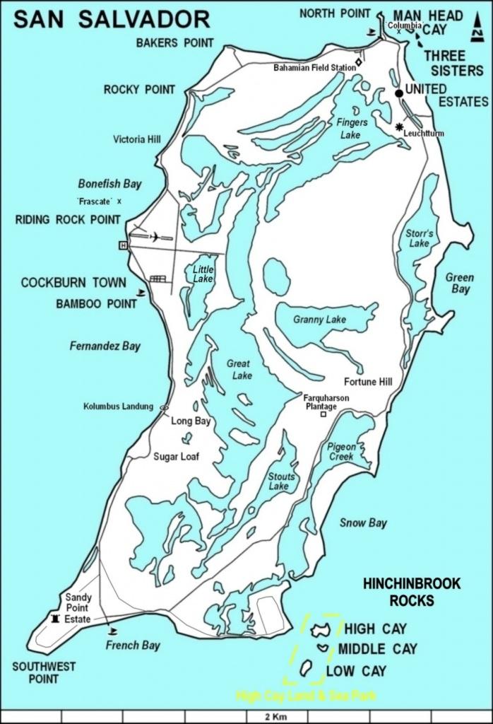 San Salvador Island - Wikipedia - Map Of Islands Off The Coast Of Florida