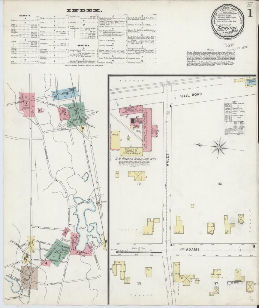 Sanborn Maps, Massachusetts | Library Of Congress - Bristol City Centre Map Printable