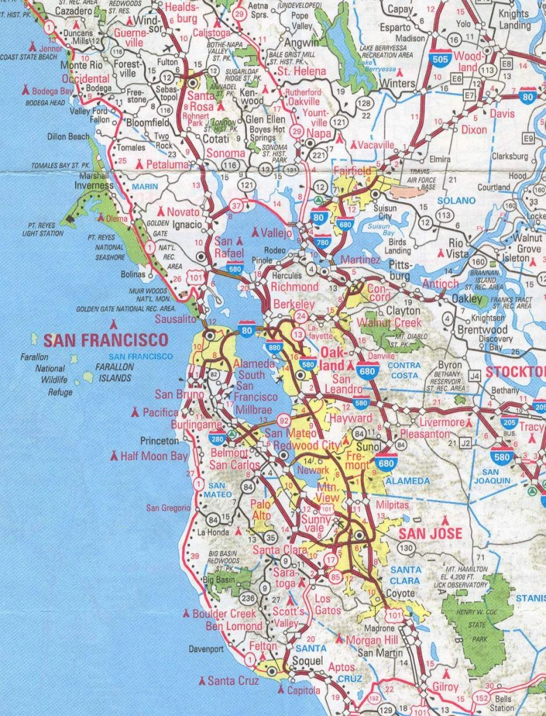 Sanfrancisco Bay Area And California Maps   English 4 Me 2 - Map Of San Francisco Area California