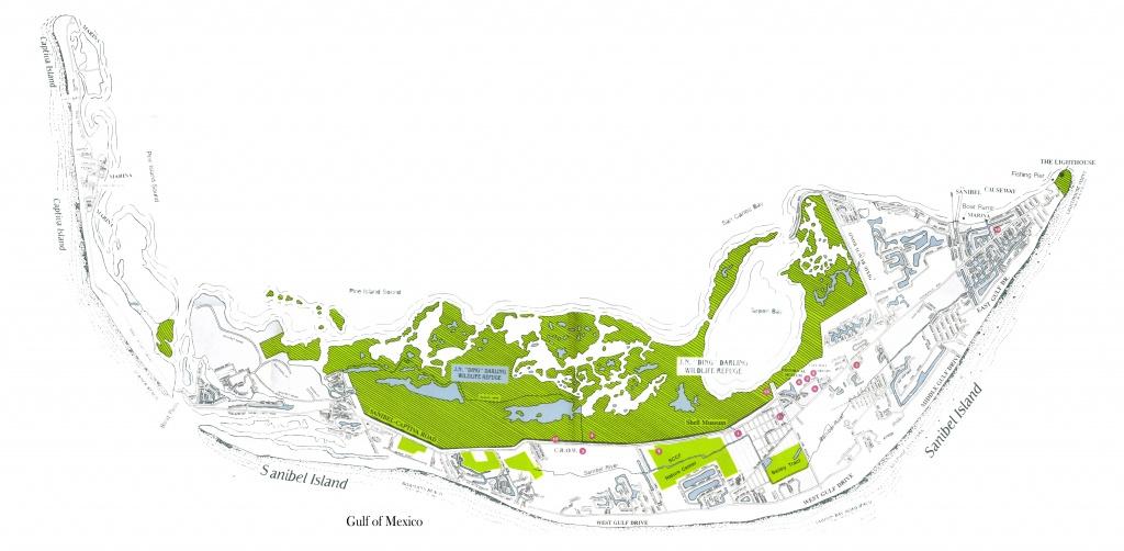 Sanibel, Captiva Island, And North Captiva Island Maps - Road Map Of Sanibel Island Florida