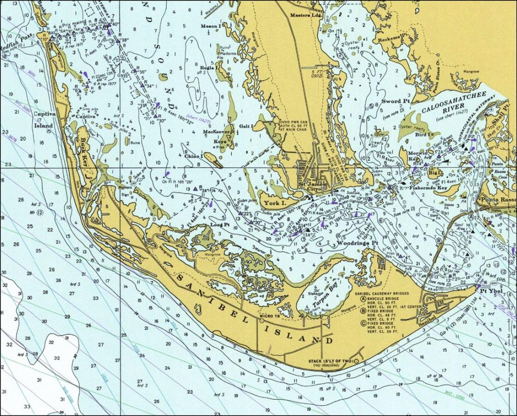 Sanibel Island, 1977 - Sanibel Florida Map