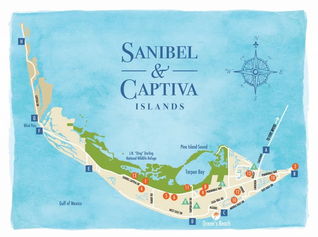 Sanibel Island Map To Guide You Around The Islands - Captiva Florida Map