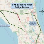 Santa Fe River Floods, Closes Several Roads   Flood Maps Gainesville Florida