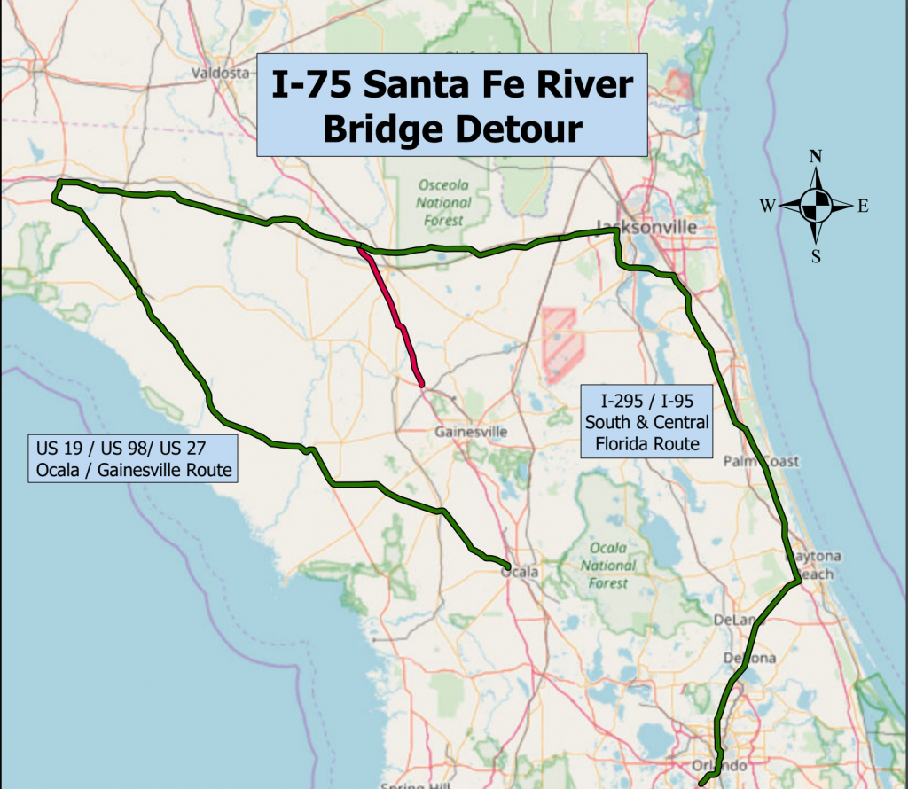 Santa Fe River Floods, Closes Several Roads - Flood Maps Gainesville Florida