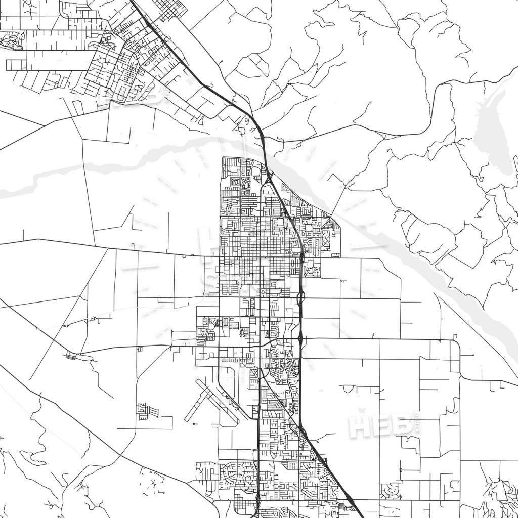Santa Maria, California - Area Map - Light | Hebstreits Sketches - Santa Maria California Map
