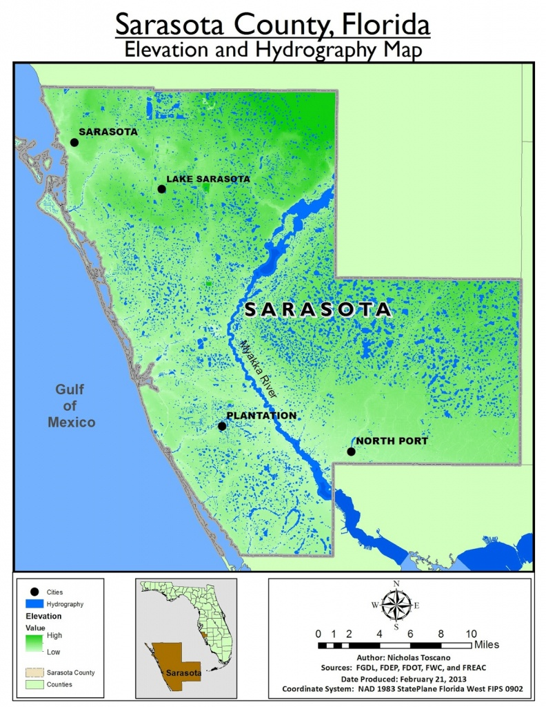 Sarasota County | Speaklounge - Sarasota County Florida Elevation Map