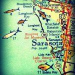 Sarasota Siesta Key Florida 11X14 Vintage Map Photograph Beach | Etsy   Siesta Key Beach Florida Map