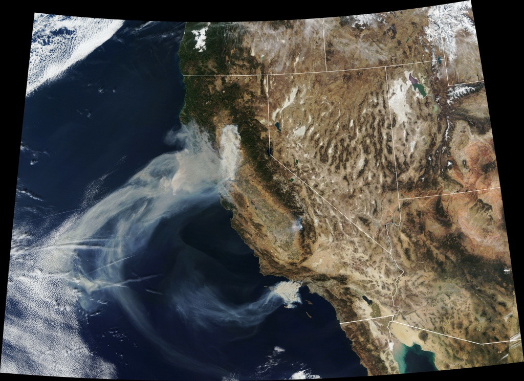 Satellite Photos: California Wildfire Smoke Reaches Detroit And - California Wildfire Satellite Map