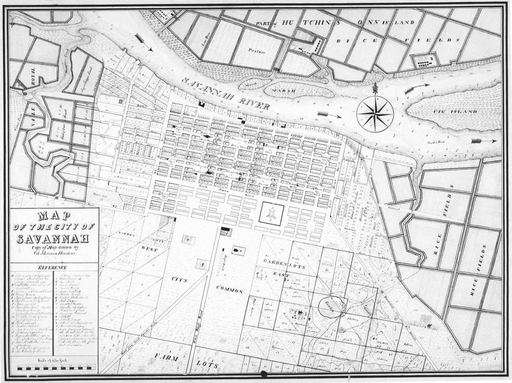 Savannah In Photos & Drawings: 1864-1908 – Georgia Globe Design News - Printable Map Of Savannah Ga