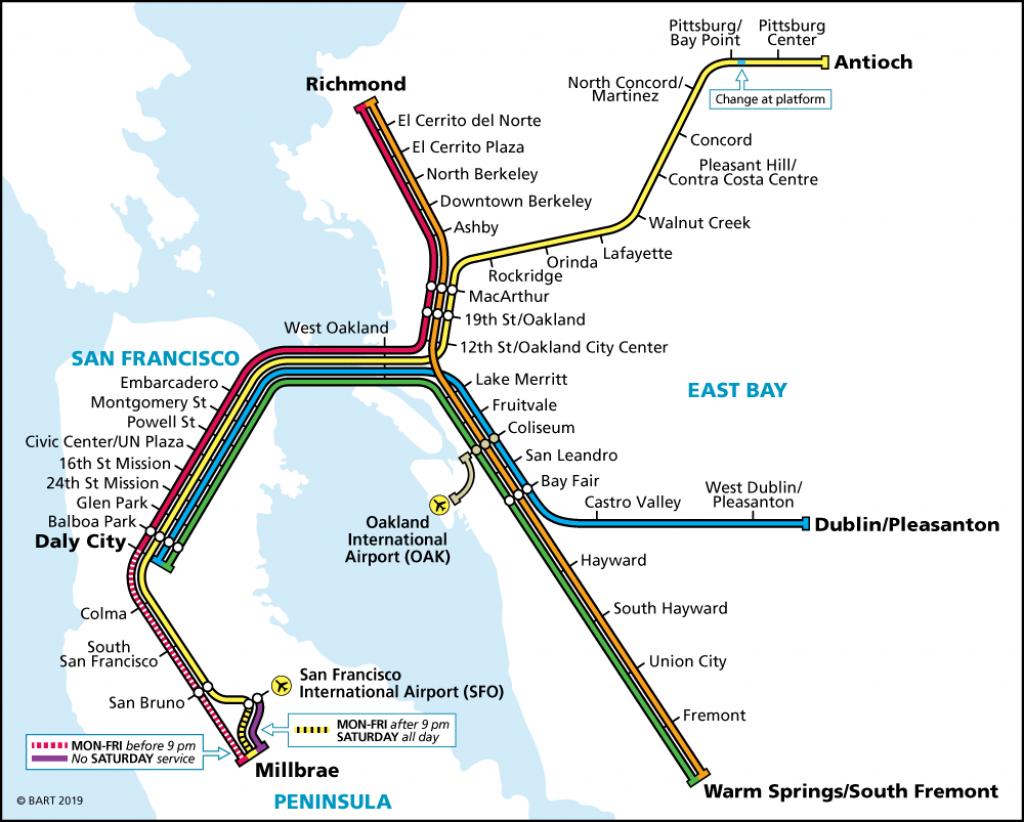 Schedules   Bart.gov - Map Of Dublin California Area