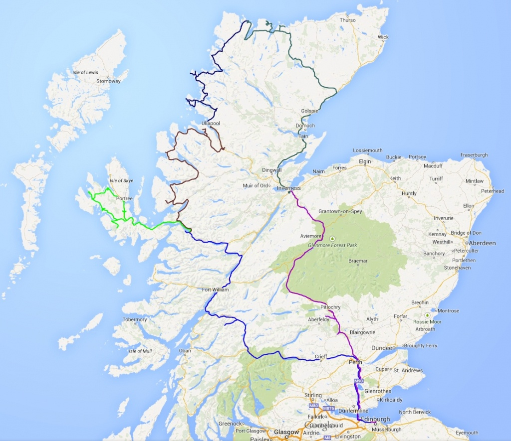 Scotland Road Map And Travel Information | Download Free Scotland - Printable Road Map Of Scotland