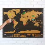 Scratch Map Deluxe | Scratch Off Wall Maps | Uncommongoods   Texas Scratch Off Map