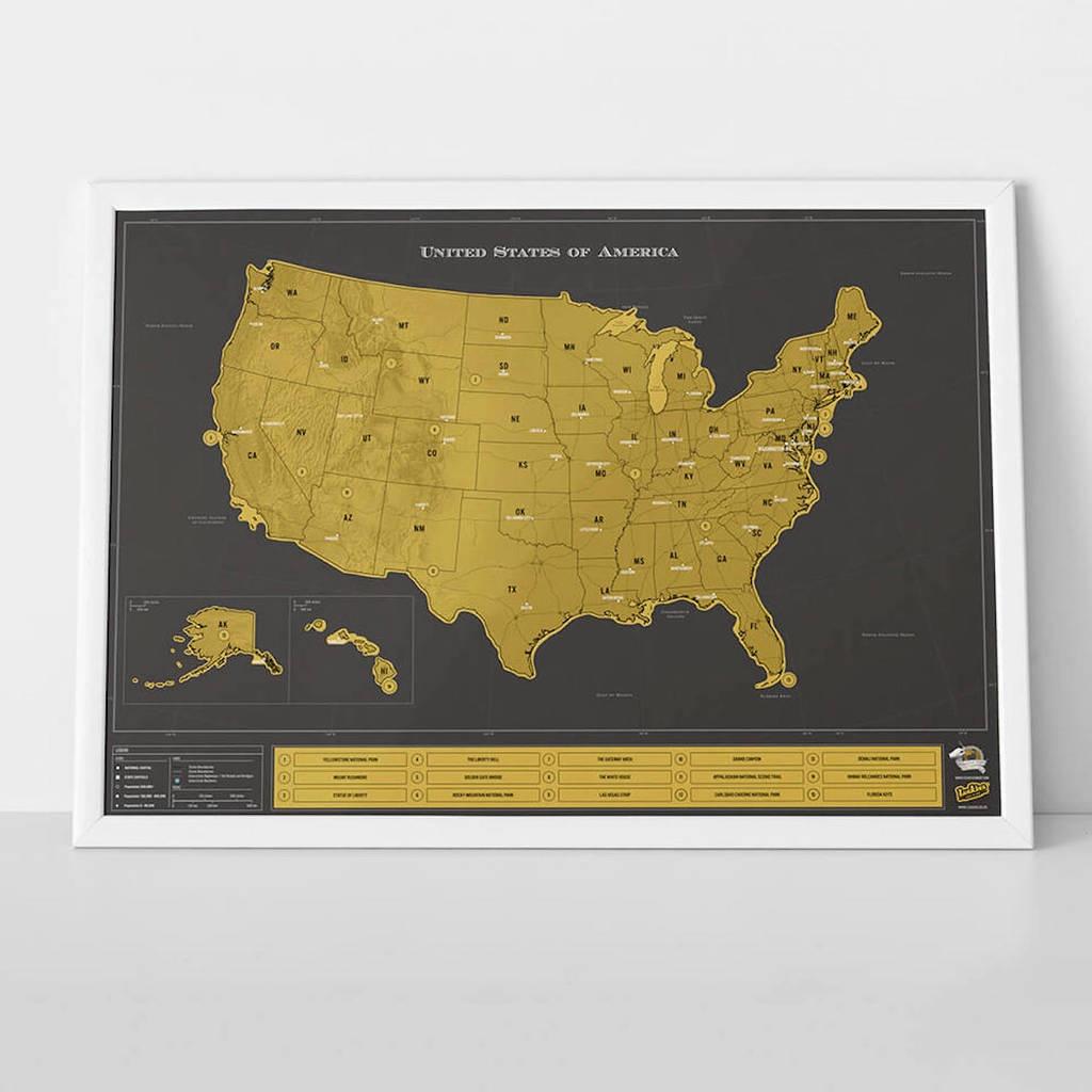 Scratch Map® Usa Deluxe Posterluckies | Notonthehighstreet - Florida Scratch Off Map
