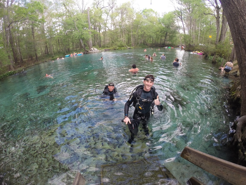 Scuba Dive Club Explores Six Springs In North Florida - Admiral - Florida Springs Diving Map