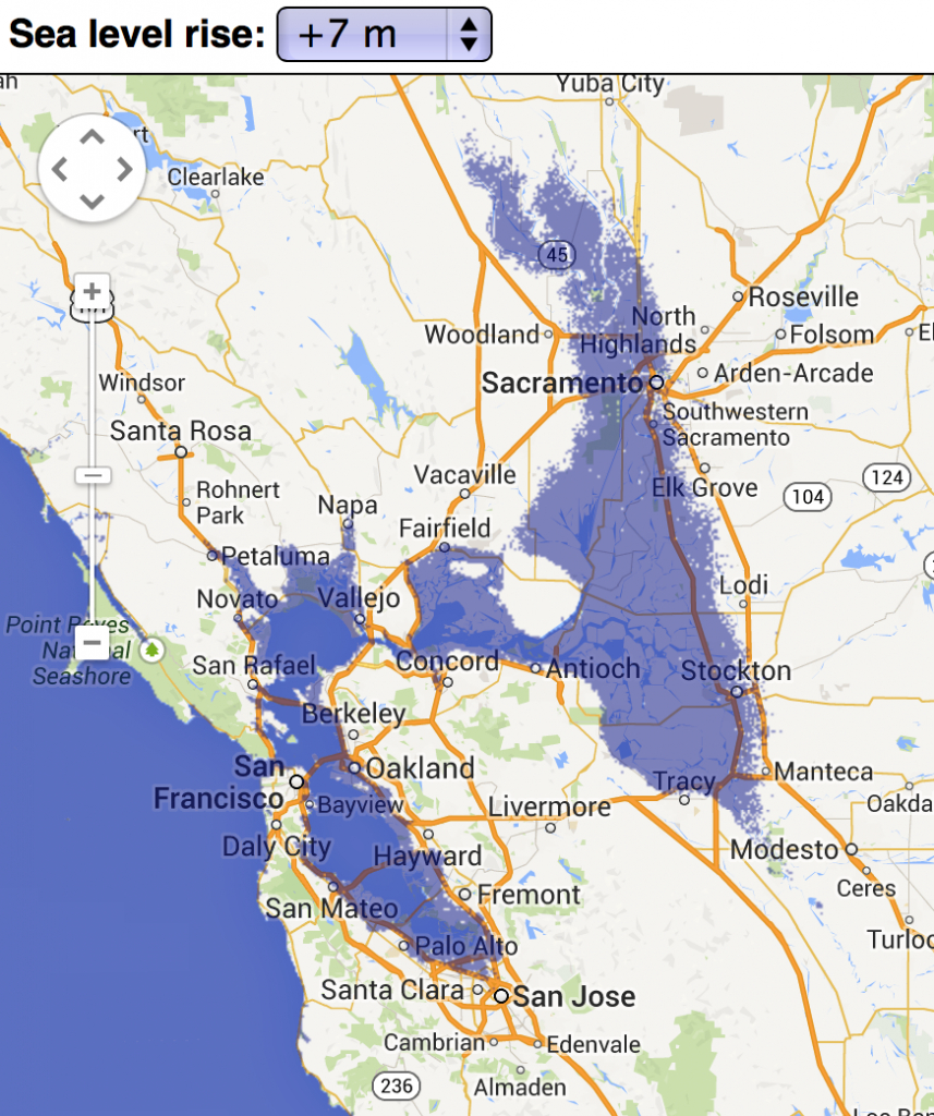 Sea Level Rise Effects On Estonia [Gif] [660 X 466] : Mapporn - California Sea Level Map