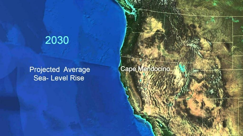 Sea-Level Rise For The Coasts Of California, Oregon, And Washington - California Sea Level Map