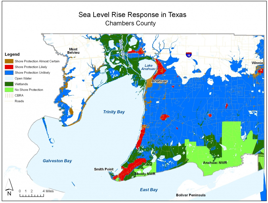Sea Level Rise Planning Maps: Likelihood Of Shore Protection In Florida - Map Of Texas Coast
