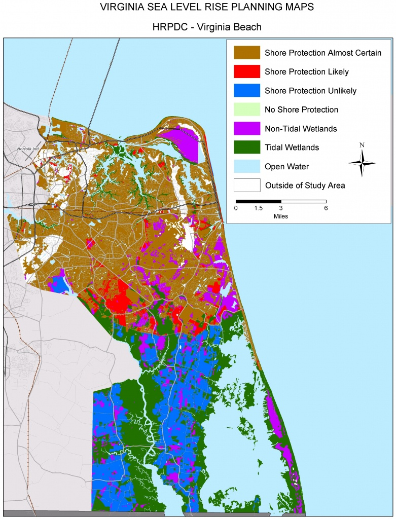 Sea Level Rise Planning Maps: Likelihood Of Shore Protection In Virginia - Florida Elevation Map Above Sea Level