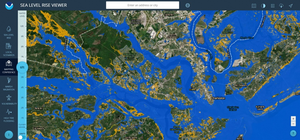 Sea Level Rise Viewer - Florida Map After Global Warming