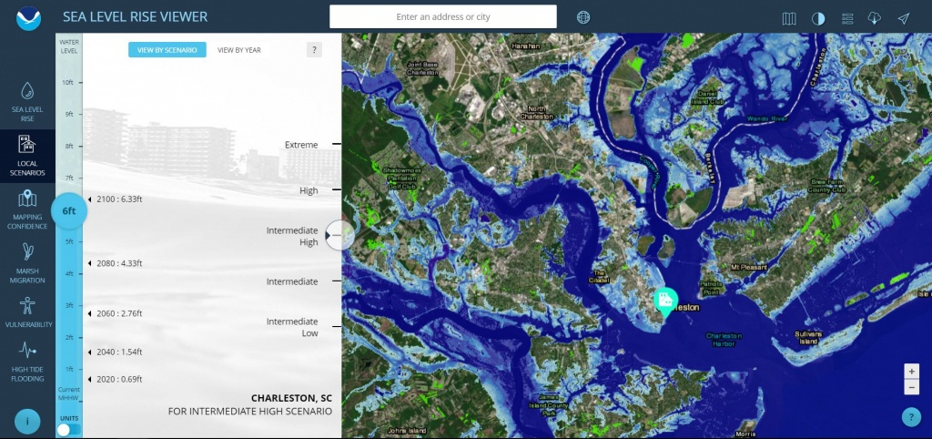 Sea Level Rise Viewer - Florida Sea Level Map