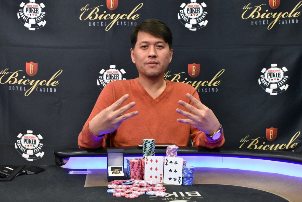 Sean Yu Wins Wsopc Bicycle For $210,585 And Ring No. 7 | Pokernews - California Poker Rooms Map