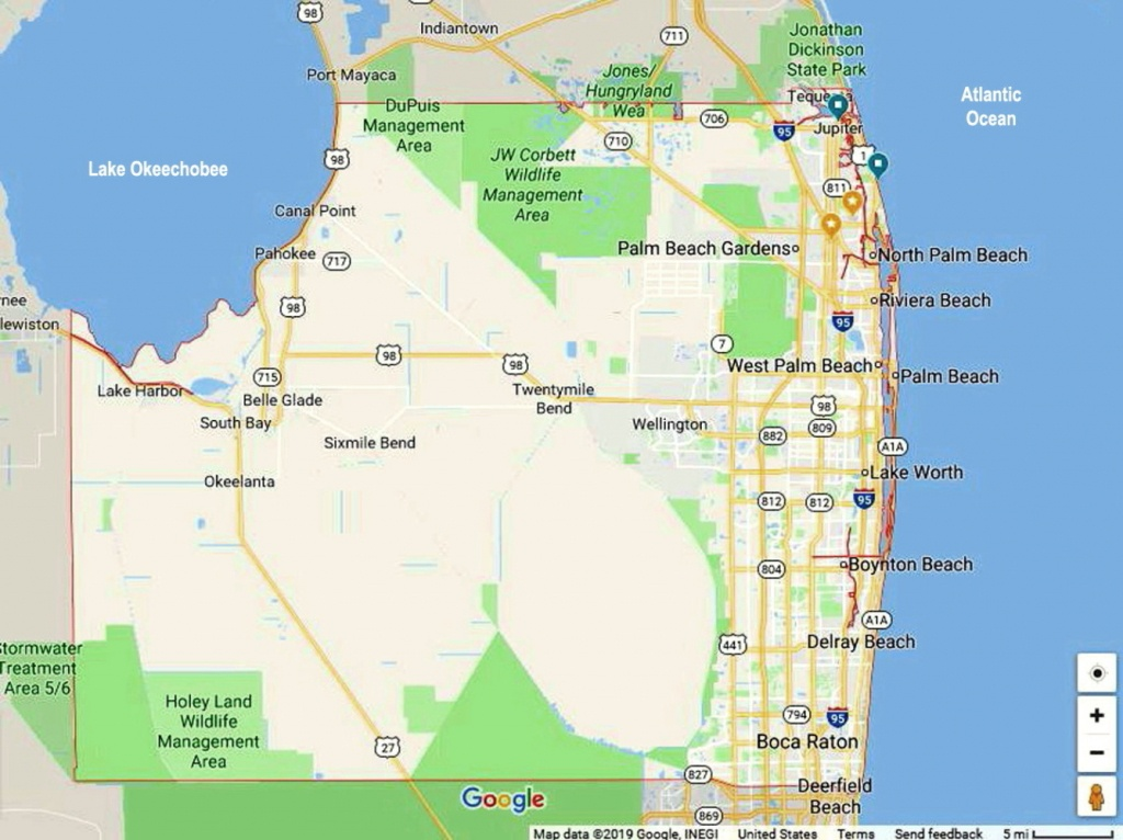 Search Homes And Condos For Sale <Br>Palm Beach County South Florida - Map Of Palm Beach County Florida