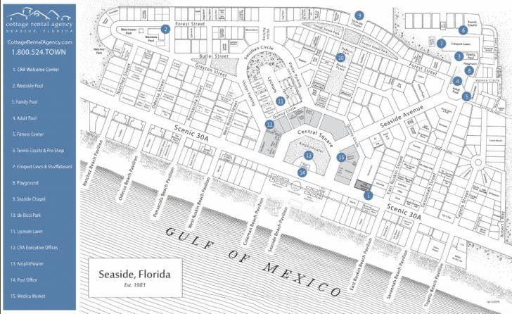Seaside Florida Town Map