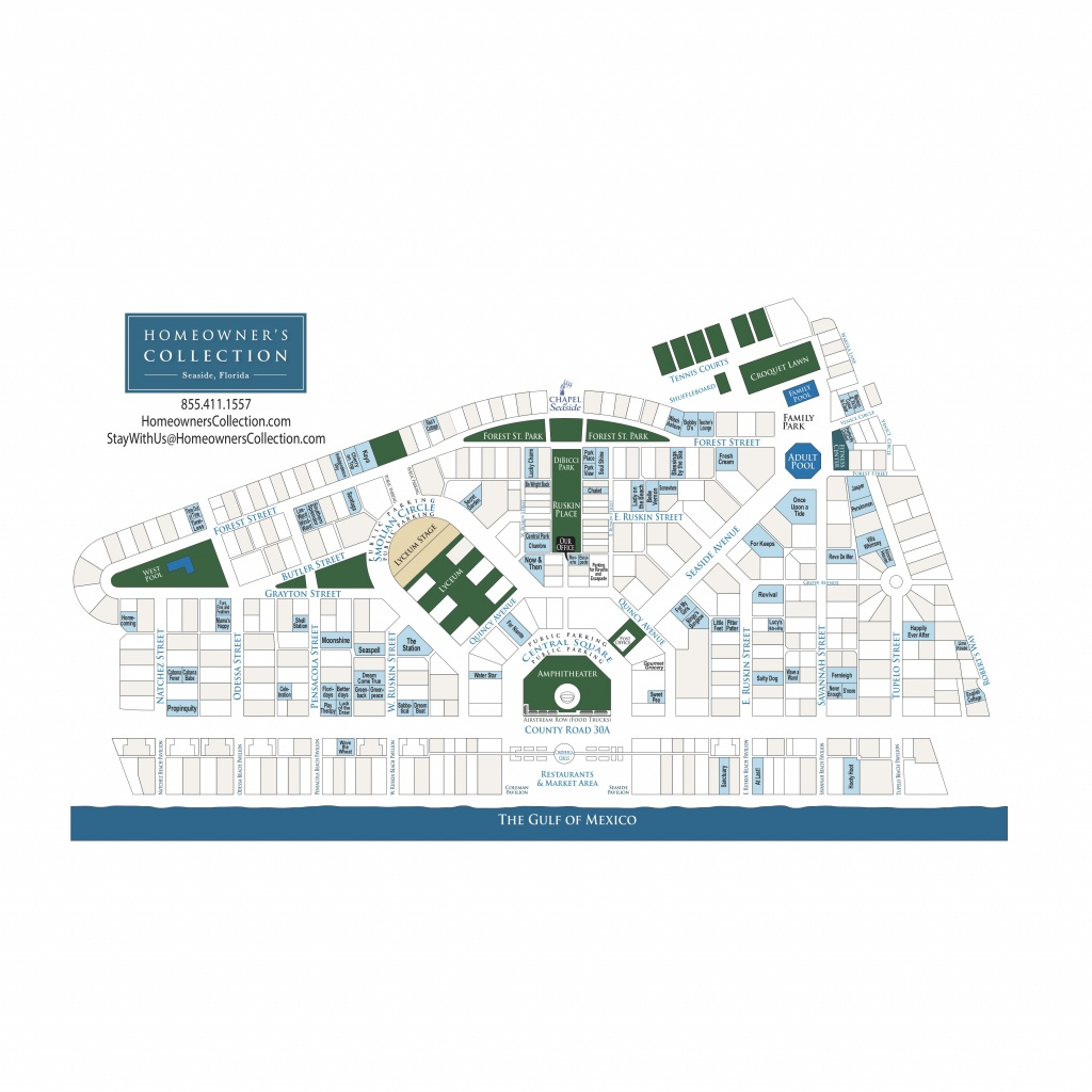Seaside Florida Cottage Map - Map Of Watercolor And Seaside Florida