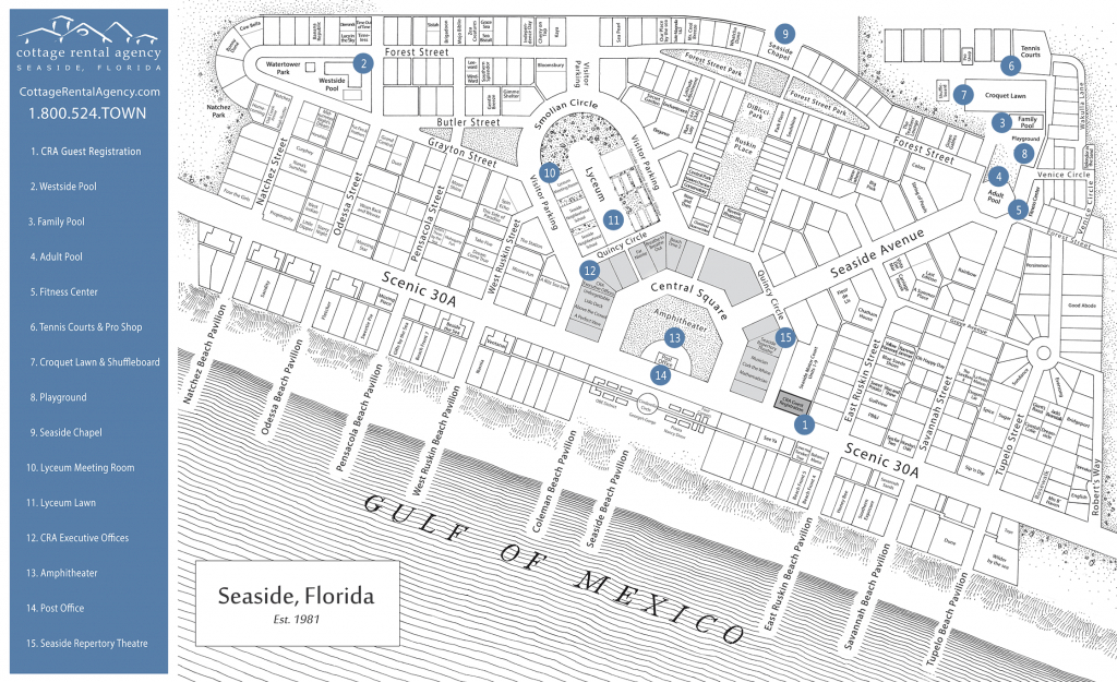 Seaside Florida Map - Click Properties On Map To View Details | Maps - Seaside Florida Map