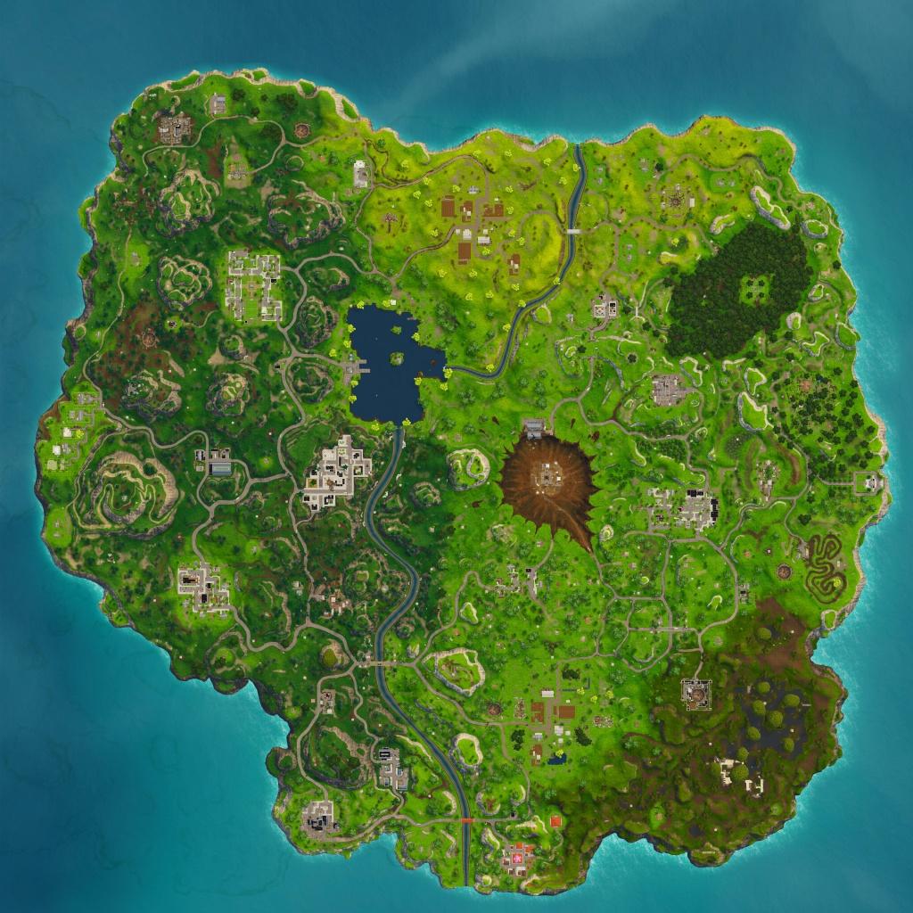 Season 4 Map (Hi-Res) : Fortnitebr - Printable Fortnite Map