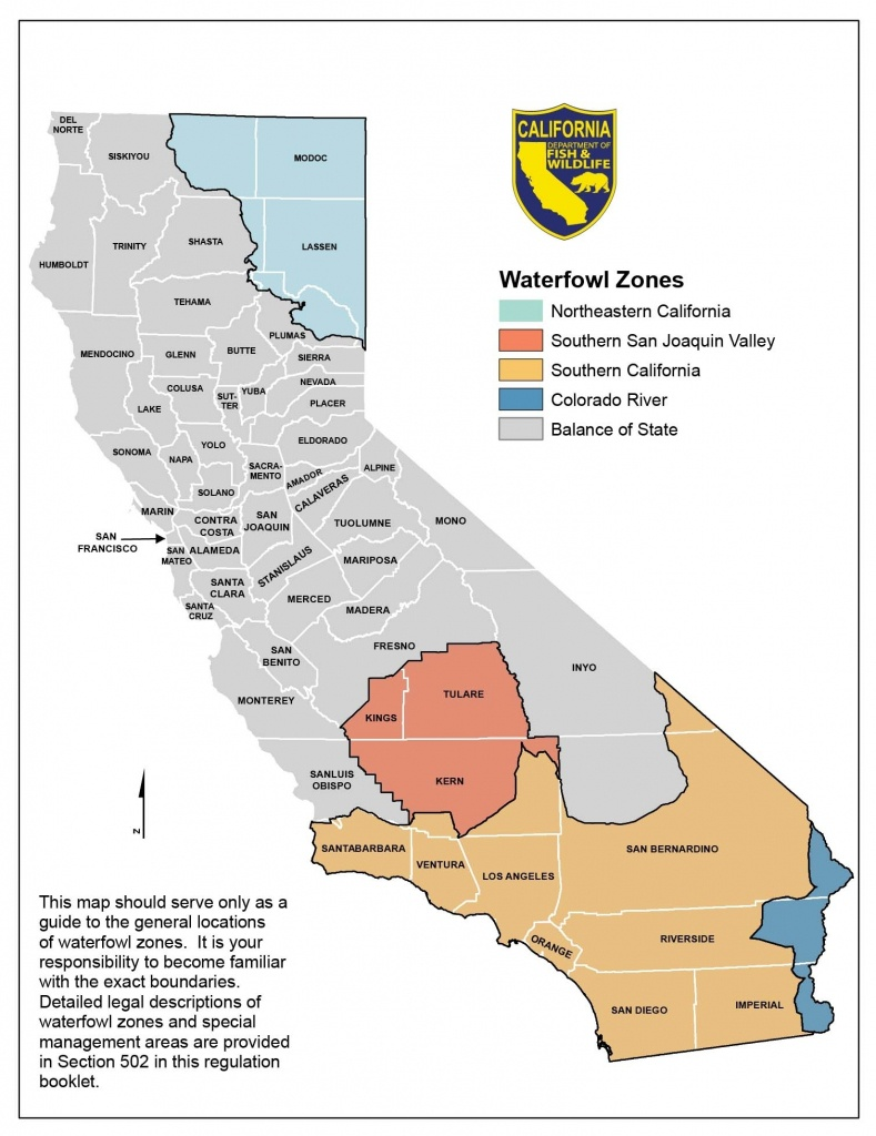 Season Dates And Bag Limits – California Waterfowl Association - California Deer Zone Map