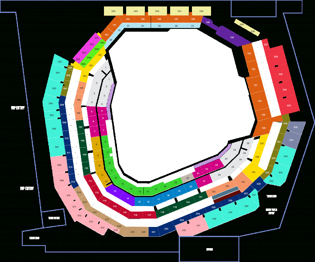 Seat Map For The New Stadium : Texasrangers - Texas Rangers Seat Map