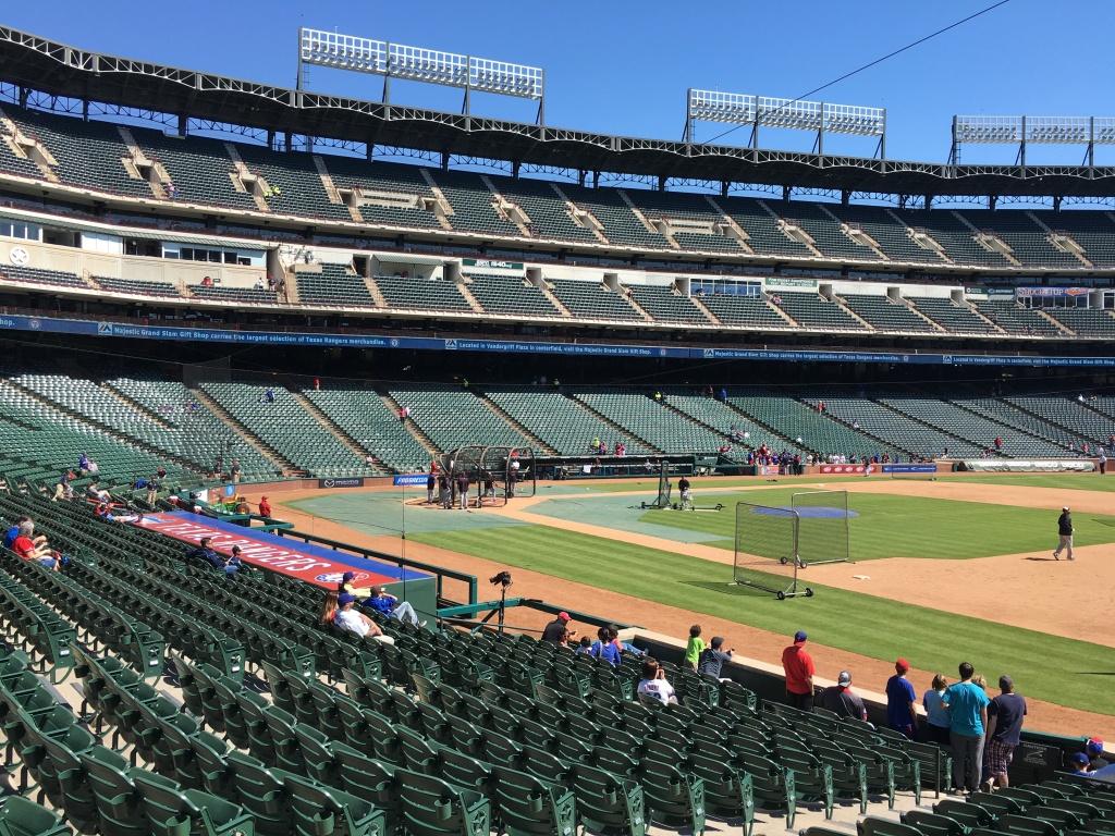 Seat Selector — Rangerfans - Texas Rangers Ballpark Seating Map