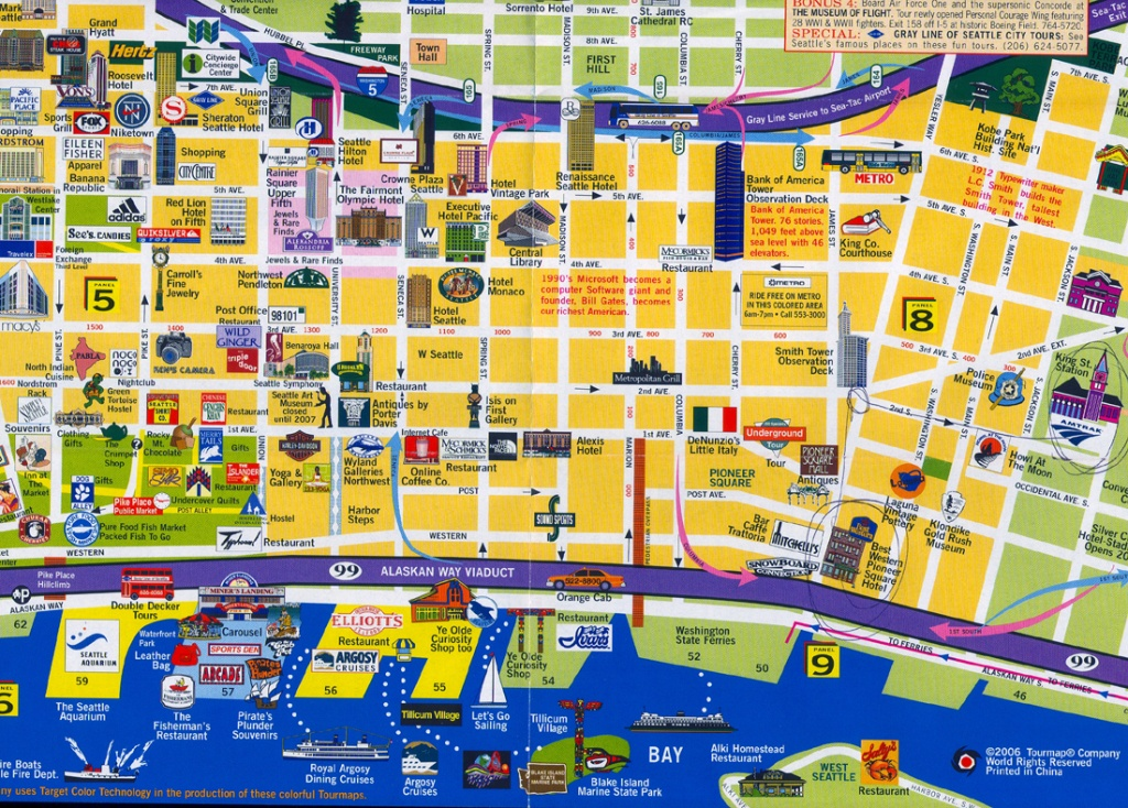 Seattle Map ~ Usa Map Guide 2016 - Seattle Tourist Map Printable