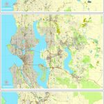 Seattle Pdf Map State Washington, Us Printable Vector City Plan 3 Parts Map  V2 Full Editable Street Map Adobe Pdf   Printable Map Of Seattle