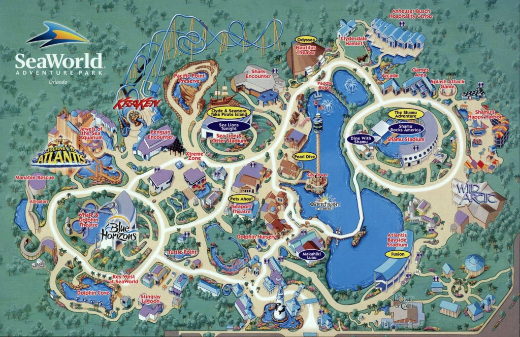 Seaworld Map Orlando - 7007 Sea Harbor Dr Orlando Fl • Mappery - Sea World Florida Map